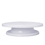 cici store 28cm Turntable Rotating Cake Plate Stand Decorating Tools
