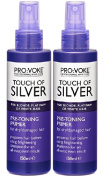 TWO PACKS of Provoke Touch of Silver Pre-Toning Primer 150ml