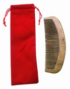UK Seller! 100% Hand Made Green Sandalwood Comb, Sandal Wood Comb anti static 15.2cm (No Gift Bag) by Nature Therapy