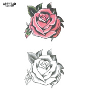 "Temporary Tattoo (water transfert) ArtWear Tattoo ""Amazing Roses"""