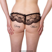 "5 x ""Dirty Whore"" temporary tattoo letting in black - Fetish kinky tattoo"