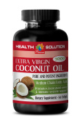 Memory booster pill - EXTRA VIRGIN COCONUT OIL - Coconut oil pills weight loss - 1 Bottle 60 Softgels