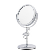 Danielle Mini 4X Magnification Flamingo Vanity Mirror, Chrome