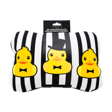 Danielle Inflatable Bath Pillow with Suction Cups, Ducks