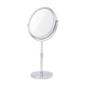 Danielle Two-Sided 10X Magnification Vanity Mirror with Extendable Stem, Chrome