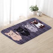 SMYTShop Non-slip MatsPet Cat Printed Bathroom Kitchen Rugs Doormats Cat Carpet For Living Room Non-slip Mats