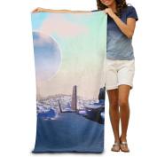 Macevoy Colourful Sky Adult Cute Super Absorbent Towel In Beach On The Beach 80cm130cm