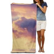 Macevoy Colourful Sky Adult Cute Super Absorbent Polyester Velvet Beach Towels On The Beach 80cm130cm