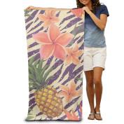 Macevoy Colourful Flowers Adult Good Super Absorbent Beach Towels On The Beach 80cm130cm