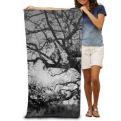 Macevoy Black Tree Adult Good Super Absorbent Polyester Velvet Beach Towels On The Beach 80cm130cm
