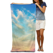 Macevoy Colourful Sky Adult Good Super Absorbent Beach Towel On The Beach 80cm130cm