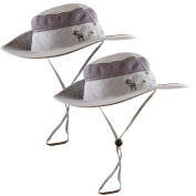 Sun Hats 2-Pack - Safari Hat for Men Women and Children, Boonie Hat, Camping Hat, Fishing Hat, Summer Hat, Gardening Hat by The Friendly Swede