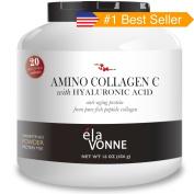 Elavonne Amino Collagen C with Hyaluronic Acid Fish Collagen Peptide Powder, 470ml