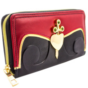 Alice In Wonderland Evil Queen of Hearts Black ID & Card Clutch Purse