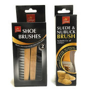 Pack Of 2 Wooden shoe Brush And Suede & Nubuck Brush For Restore To Original