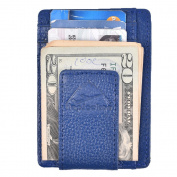 Hopsooken Genuine Leather Money Clip Wallet RFID Thin Slim Wallet Strong Magnet