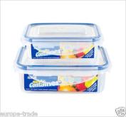 CrazyGadget® Seal Fresh Airtight Food Storage Tubs - 2 Sets