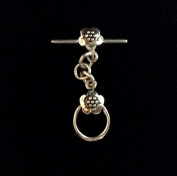 Imagine If…925 Sterling Silver Bali Style Toggle with Flower