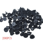 BronaGrand 200pcs PVC Rubber Pin Backs/ Pin Keepers for Tie Tack/ Lapel Pin
