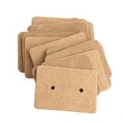 100 Pieces Kraft Paper Earring Card Earring Display Hang Cards Ear Studs Display Hang Tag
