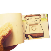 Olpchee Creative Flip Book Animation with a Hole to Hide Your Ring for Proposal Valentine's Day Birthday Gift
