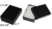 Cotton Filled Jewellery Gift Box (Black) #32 Pack Of 16