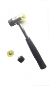 Marketty Tool 25mm Dual Head Nylon Rubber Hammer Jewellers Metal Mallet and Two Conversion Head