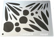 """Cabtopia -- Lapidary Jewellery Design Template Stencil """"Tranquil"""""""