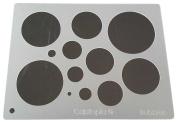 """Cabtopia -- Lapidary Jewellery Design Template Stencil """"Bubbles"""""""