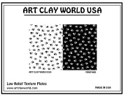 Art Clay Minipaws Low Relief Texture Plate - 1 Pc.