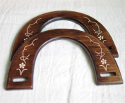 Ownstyle U Patterns Carve Wood Purse Handle Antique Finish Purse Handles For Sewing 2 Pcs A Packs