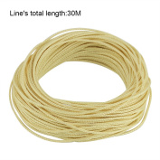 Fishing Braided Line Kevlar String Parachute Cord Line Tactical Survival Rope Superbraid Wire 30m 1.5MM 16 Strand 240kg Fade/Water Resistance Paracord for Saltwater & Freshwater Fishing Camping Hiking