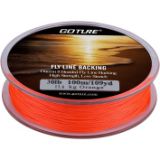 Goture Dacron Fly Fishing Line Backing for Trout Bass Pike in the Saltwater Freshwater 9.1kg 9.1kg 109yd Orange White Yellow White/Black Yellow /Black