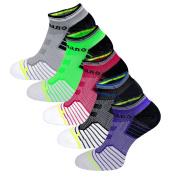 Aaronano 5 Pairs Women Half Cushioned Terry Athletic Running Socks Size
