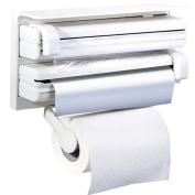 Antom Kitchen Triple Paper Dispenser Kitchen Roll Holder Mount For Cling Film Kitchen Towel Wrap Aluminium Foil Dispenser