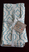 Homewear Chateau & Tango Table Linens Collection 4-Pc. Teal Napkins