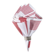 Set of 4 PCS, 46cm Woven Red & White Napkin