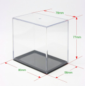 1 SET OF 6 X SMALL PLASTIC DISPLAY STAND CASES F1447-00006