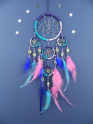 DREAMCATCHER PINK PURPLE TURQUOISE DREAM CATCHER