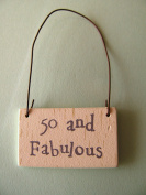 East of India birthday 50 and Fabulous wooden gift tag