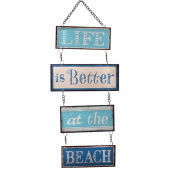 Life Is Better At The Beach Hanging Vintage Design Metal Sign