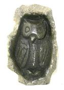 Owl Sculpture in Serpentine Stone 15 x 10 cm