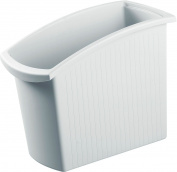 HAN Mondo 1840-11 Waste-Paper Bin 18 Litres PP Square 194 x 345 x 450 mm Light Grey