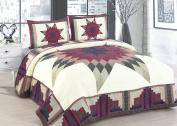 American Hometex Q16905-K Cabin Star Quilt Set, King