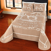PDK/Regency AR09902BQ Unbridled Spirit Jacquard Bedspread, Queen, Taupe
