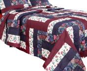 PDK/Regency Caledonia/Queen Bedspread, Burgundy, Full/Queen