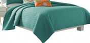 Five Queens Court Catori King Coverlet, Jade