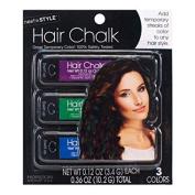 Horizon Group Next Style 3pk Hair Chalk Pink Prurple Blue