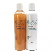 Body Food Healthy Hair Duo with Goat Milk Shampoo and Coconut Vinegar Conditioning Rinse