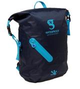 geckobrands Waterproof Lightweight Backpack, Navy/Bright Blue